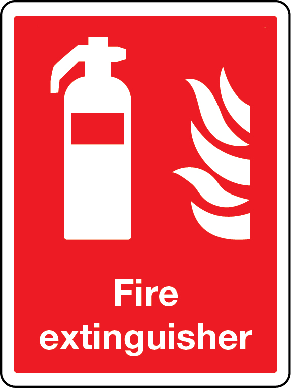 Fire extinguisher general extinguisher sign