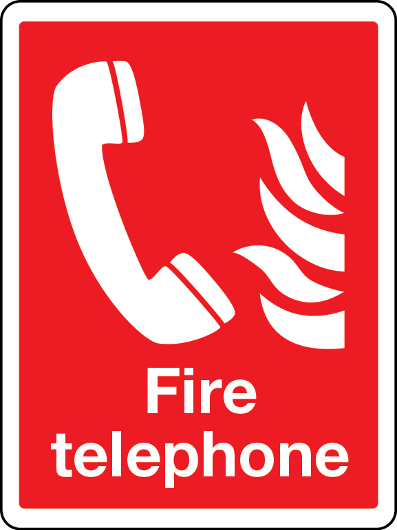 Fire telephone (large) sign