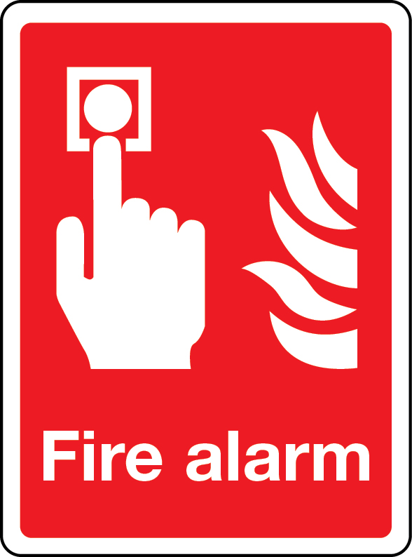 Fire alarm (call point) sign