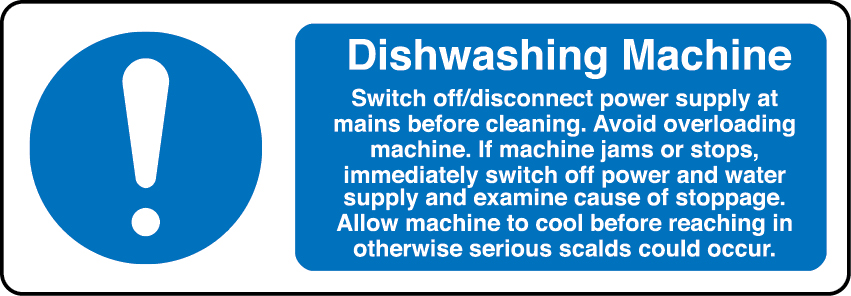 Dishwasher information sign