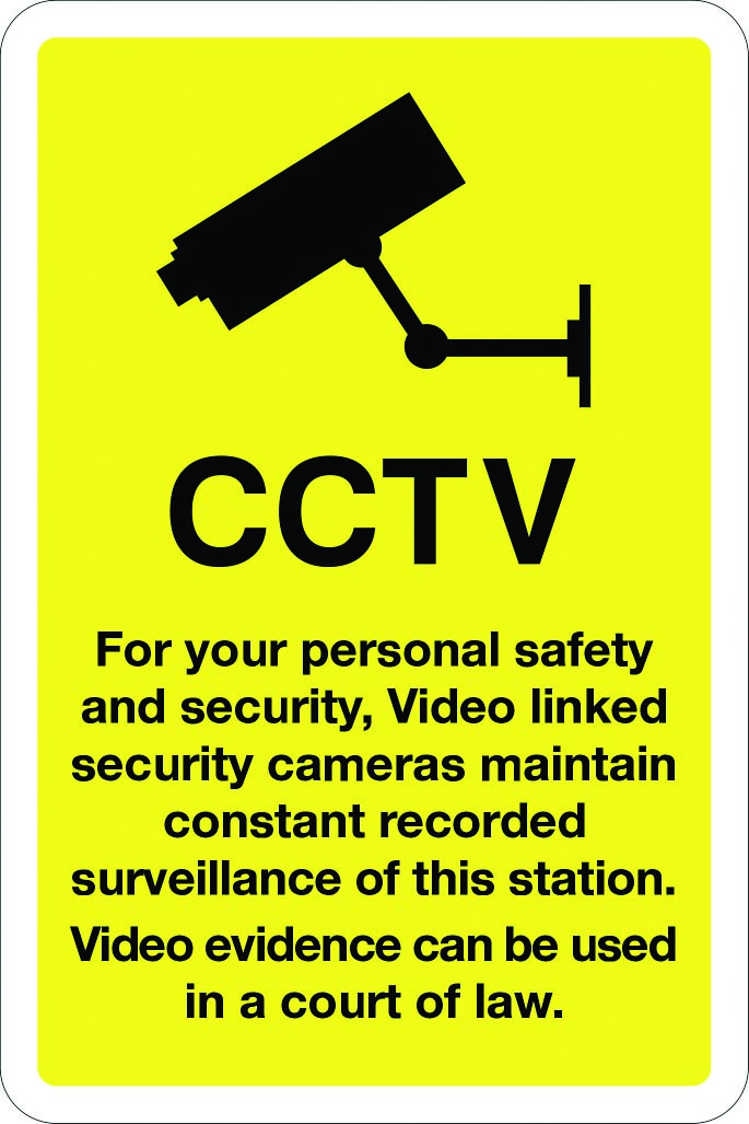CCTV for your personal safety and security sign