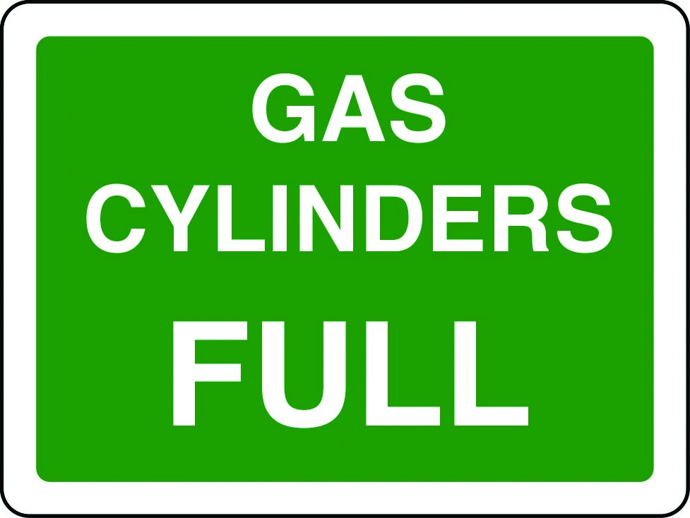 Gas cylinders full sign