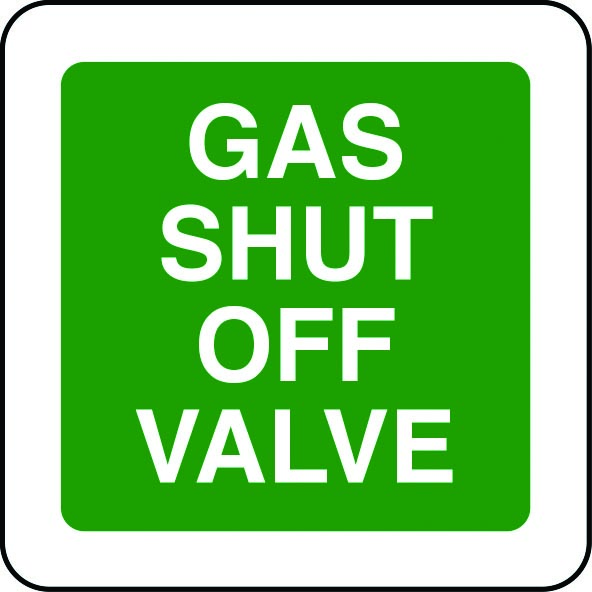Gas shut off valve