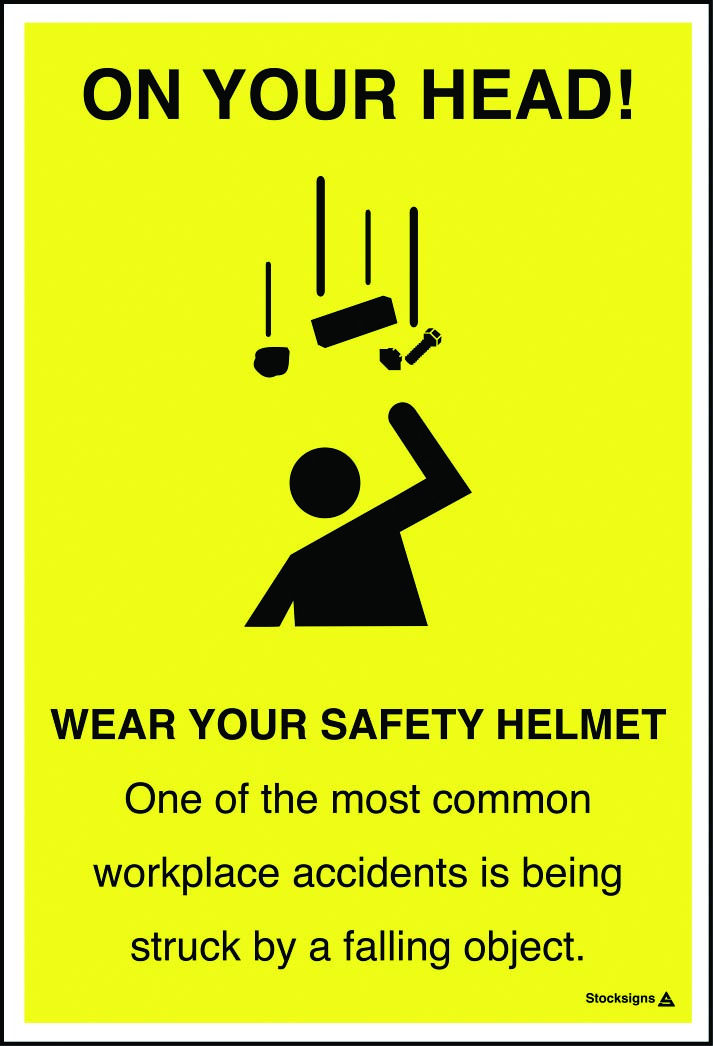 Wear Your Safety Helmet Poster Iso7010 Symbol Stocksigns