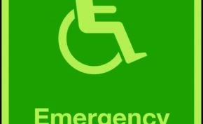 Photoluminescent emergency evacuation lift sign