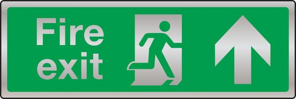 Prestige fire exit route sign (arrow up)