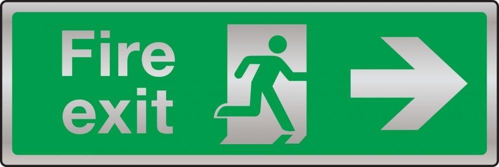 Prestige fire exit route sign (arrow right)