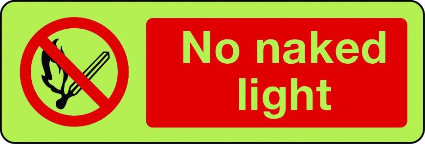 No naked light photolumiescent sign