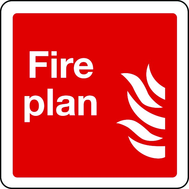Fire plan sign