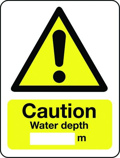 Water depth m sign