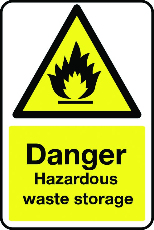 Danger hazardous waste storage