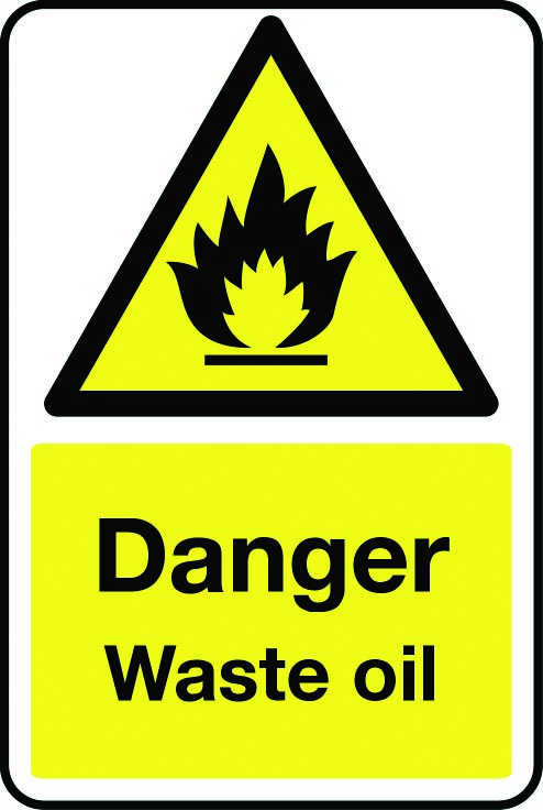 Danger waste oil