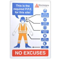 PPE Personal Protective Equipment Reminder Sign