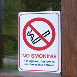 Prohibition No Smoking Sign for Facilities Managers