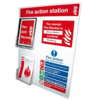 Fire Action Notice Board