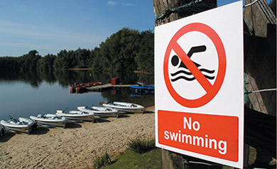 No swimming water safety prohibition