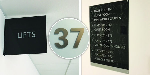 Internal Wayfinding Signs from Stocksigns Ltd