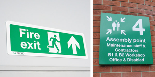 External Fire Safety Signs
