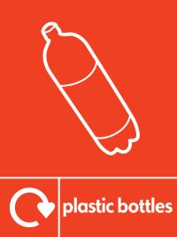05781 Plastic Bottles recycling sign