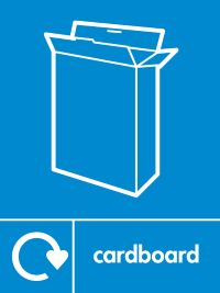 05800 Paper Recycling cardboard sign