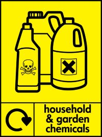 05861 household & garden chemicals sign