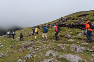 Dingle Dash Challenge Day 1 climb clouds