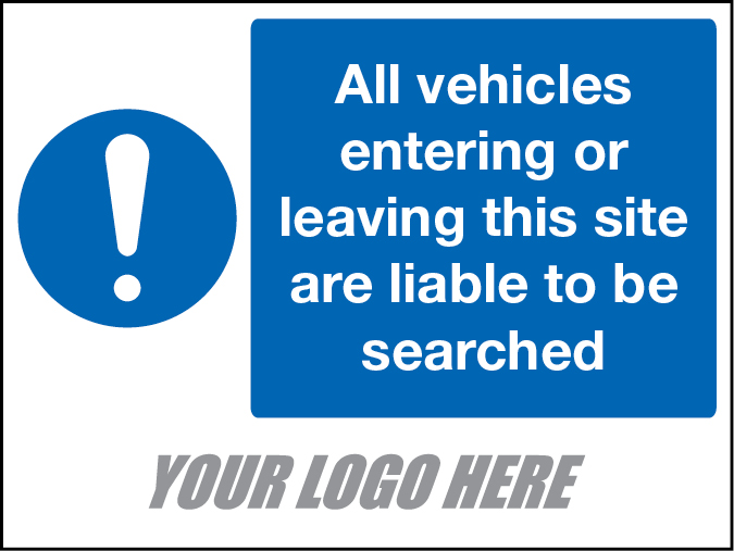 Vehicle Search Sign