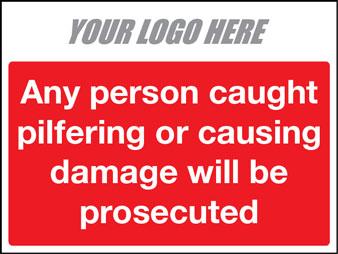 Pilfering or causing damage