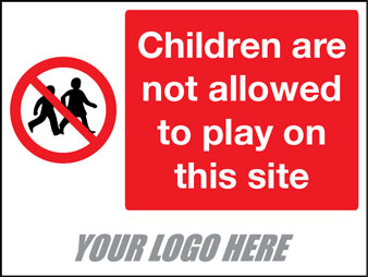 Children not allowed to play on this site