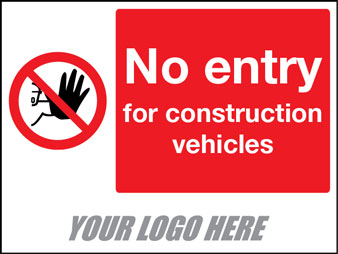 No entry construction vehicles