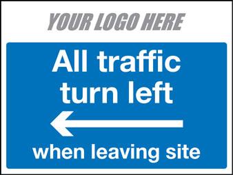 All vehicles turn left