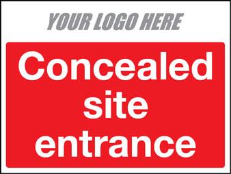 Concealed site entrance