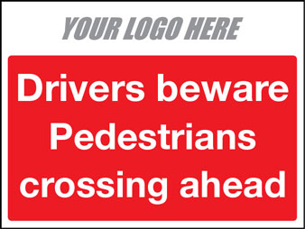 Drivers beware pedestrians crossing ahead