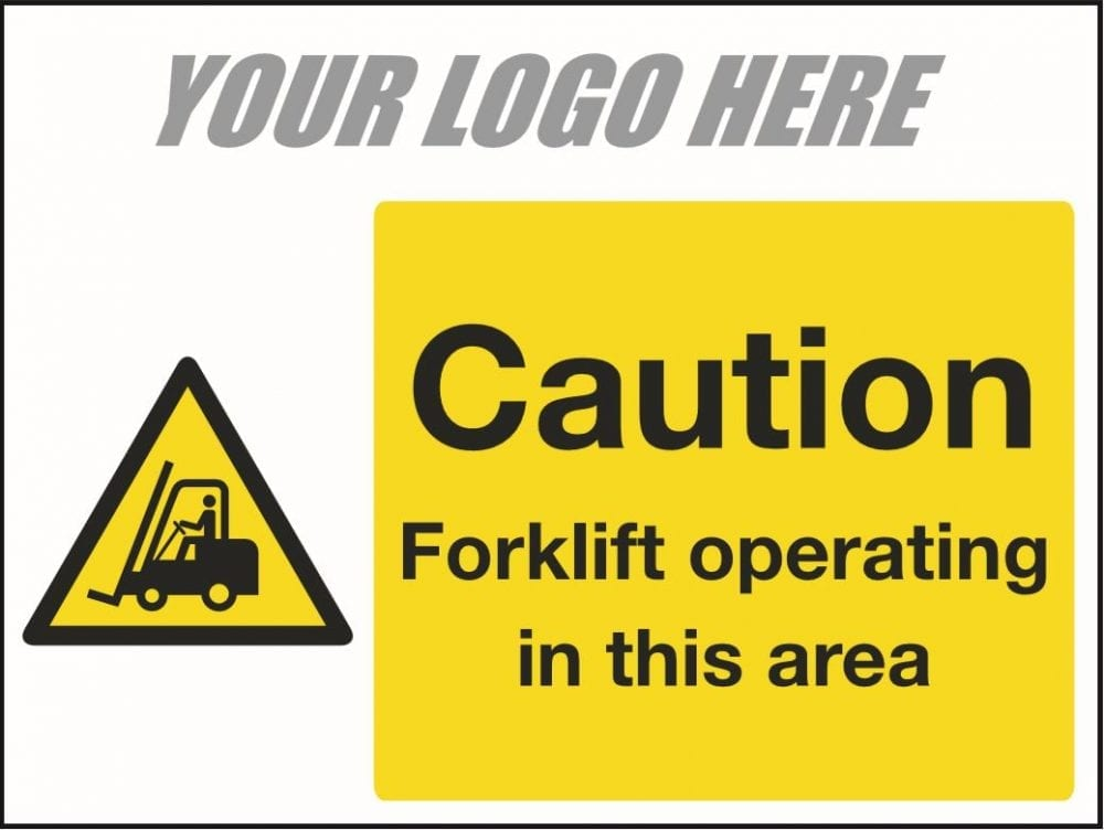 Caution forklift