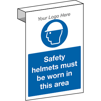 EE20103 Scaffolding safety helmets must be worn in this area. Construction site sign.