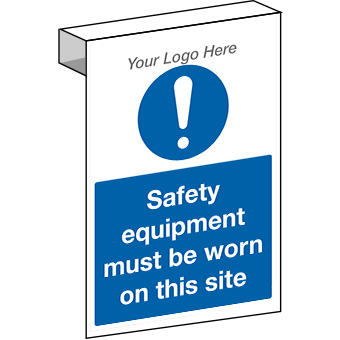 EE20108 Scaffolding Safety equipment must be worn construction site sign.