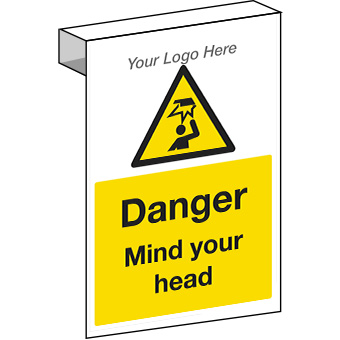 EE20120 Scaffolding. Danger mind your head construction sign.