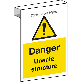 EE20124 Scaffolding. Danger unsafe structure sign for construction sites.