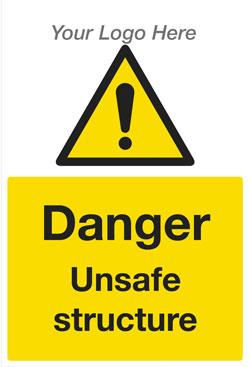Danger Unsafe Structure