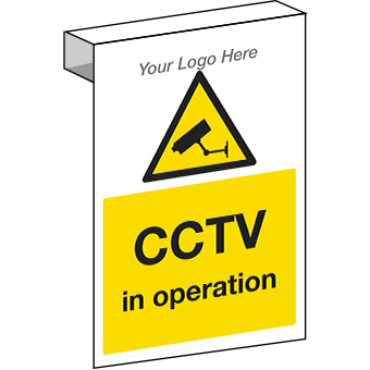EE20126 Scaffolding. CCTV in operation construction sign.