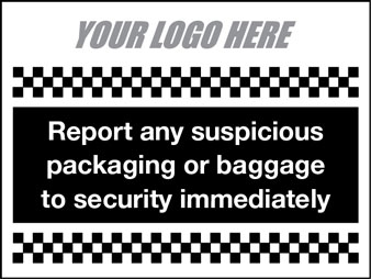 Report any suspicious baggage
