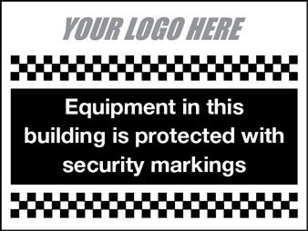 Equipment protected with security markings