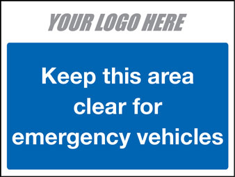 EE80133 Keep this area clear for emergency vehicles