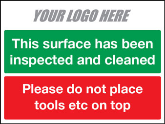 EE80154 This surface has been inspected and cleaned. Please do not place tools etc on top
