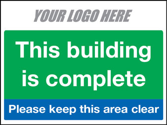 EE80163 This bulding is complete please keep this area clear