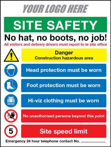 PPE safety board