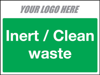 EE50013 Inert / Clean waste construction sign