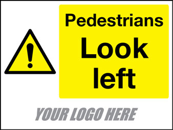Pedestrians look left