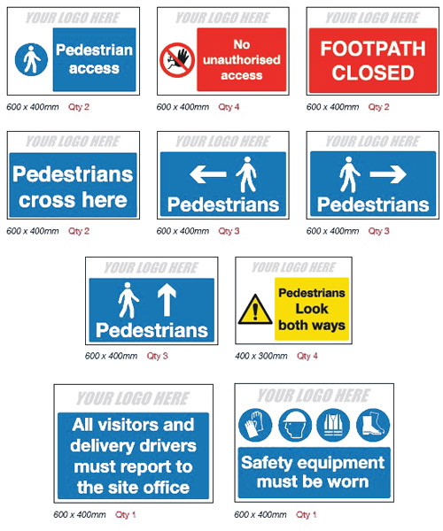 Pedestrian Route Pack for Construction Sites