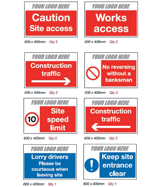 Traffic Management Pack for Construction Sites